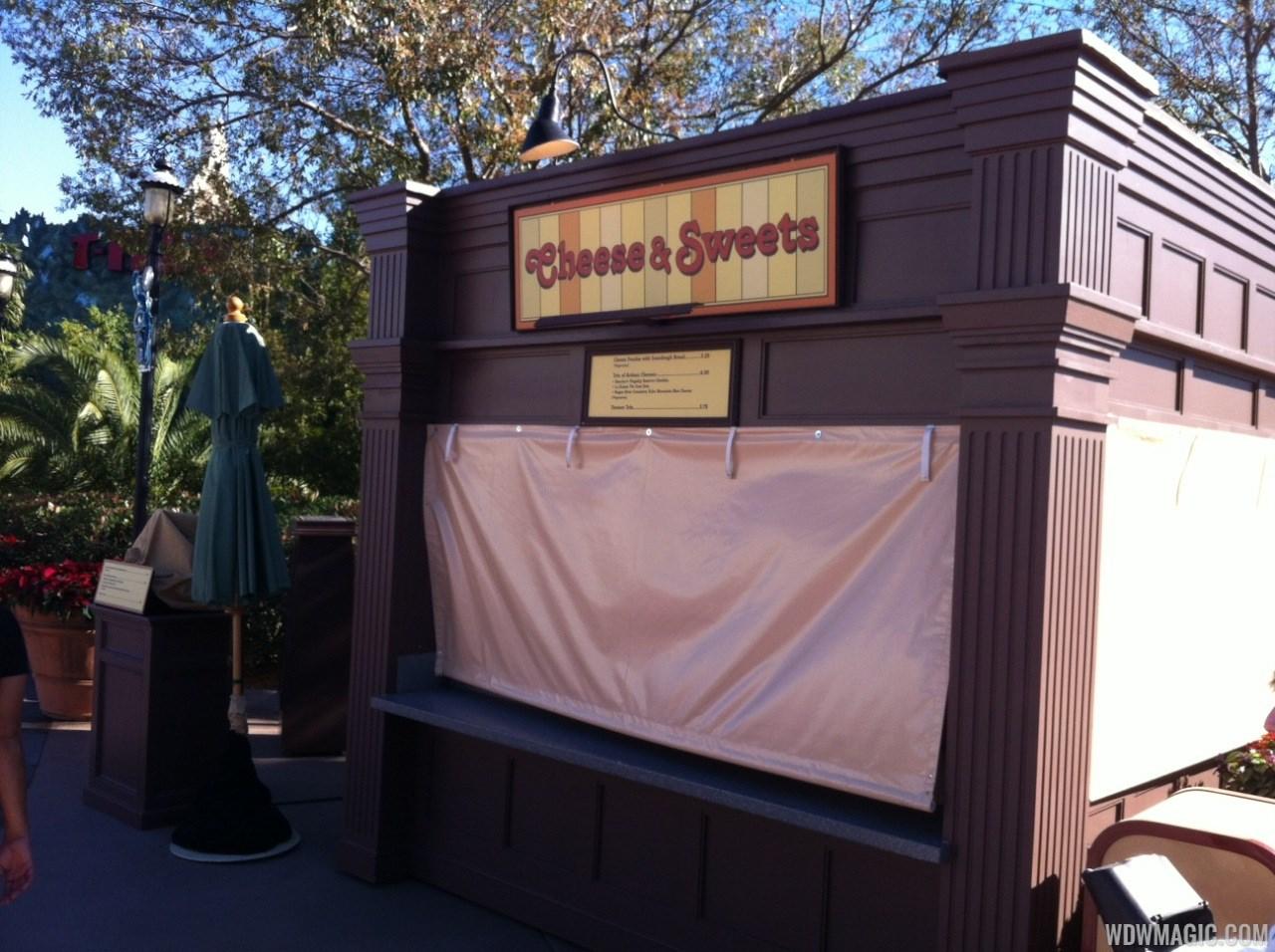 Food and Wine kiosks at Pleasure Island