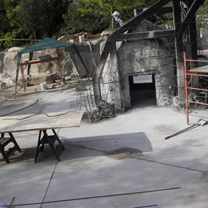 3 of 4: Pooh's Playful Spot - Pooh themed play area construction update