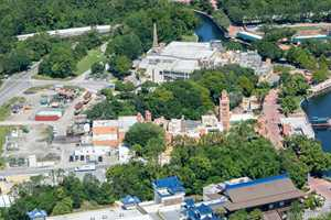 PHOTO - An aerial view of the Ratatouille site at Epcot