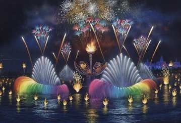 IllumiNations: Reflections of Earth - Concept art of the full lagoon.