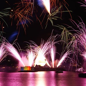 2 of 8: IllumiNations: Reflections of Earth - Reflections of Earth show viewed from Germany