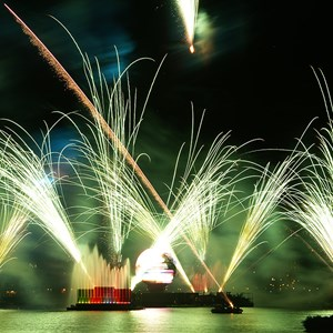 3 of 8: IllumiNations: Reflections of Earth - Reflections of Earth show viewed from Germany