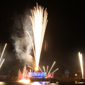 8 of 8: IllumiNations: Reflections of Earth - Reflections of Earth show viewed from Germany