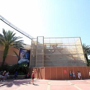 2 of 2: Rock 'n' Roller Coaster Starring Aerosmith - Exterior refurbishment on guitar icon
