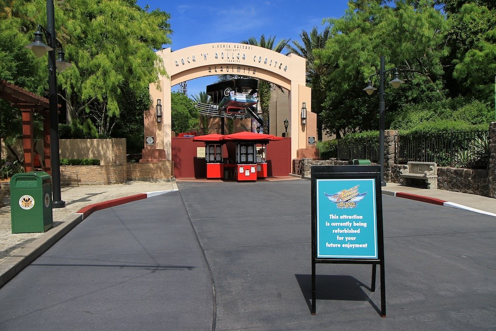 Courtyard and attraction closed for refurbishment