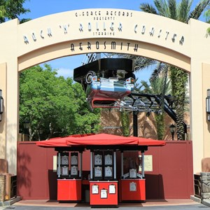 2 of 2: Rock 'n' Roller Coaster Starring Aerosmith - Courtyard and attraction closed for refurbishment