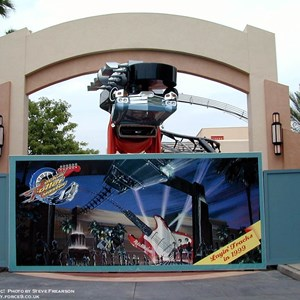1 of 1: Rock 'n' Roller Coaster Starring Aerosmith - Rock n Roller Coaster close to opening