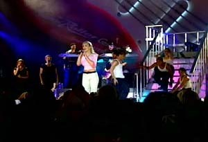 6 of 6: Rock 'n' Roller Coaster Starring Aerosmith - Britney Spears performs at Rock n Roller Coaster