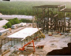 1 of 5: Rock 'n' Roller Coaster Starring Aerosmith - Rock n Roller Coaster construction photos
