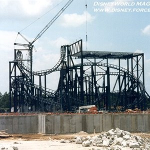 2 of 5: Rock 'n' Roller Coaster Starring Aerosmith - Rock n Roller Coaster construction photos