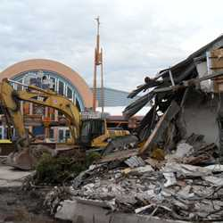 Tomorrowland Skyway Station demolition