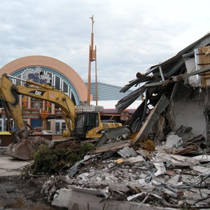 1 of 6: Skyway - Tomorrowland Skyway Station demolition