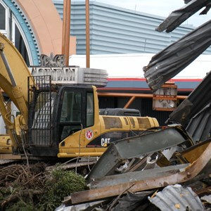 3 of 6: Skyway - Tomorrowland Skyway Station demolition