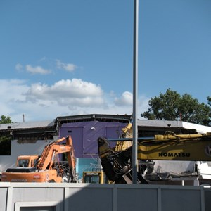 1 of 8: Skyway - Tomorrowland Skyway Station demolition