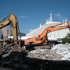 5 of 8: Skyway - Tomorrowland Skyway Station demolition