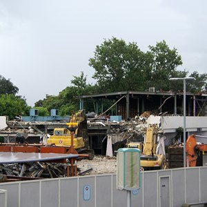 1 of 10: Skyway - Tomorrowland Skyway Station demolition