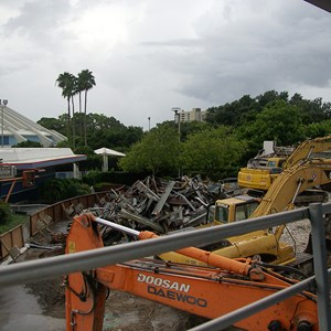 3 of 10: Skyway - Tomorrowland Skyway Station demolition