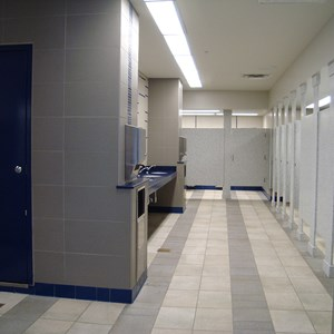 1 of 1: Skyway - Former Tomorrowland Skyway Station interior restroom