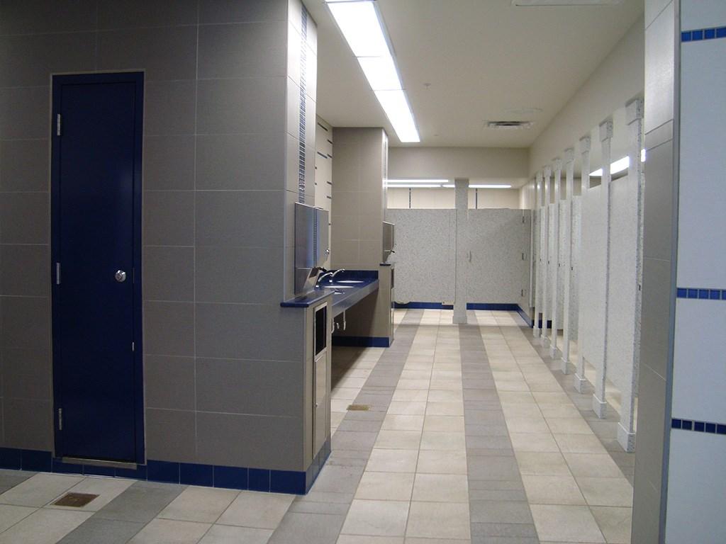 Former Tomorrowland Skyway Station interior restroom