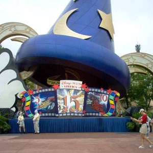 1 of 1: Sorcerer Mickey Hat Icon - 15th Year birthday display at the Sorcerer Hat