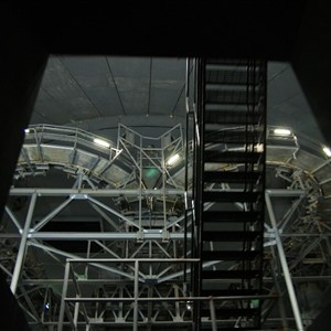 6 of 7: Space Mountain - Space Mountain track photos with work lights on (2010)