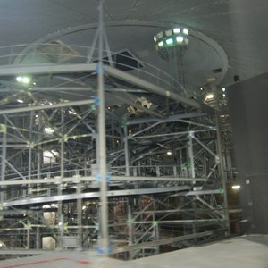 1 of 7: Space Mountain - Space Mountain track photos with work lights on (2010)