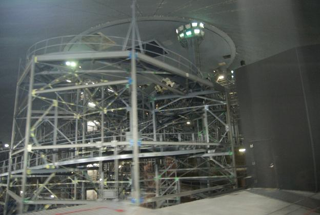 Space Mountain track photos with work lights on (2010)