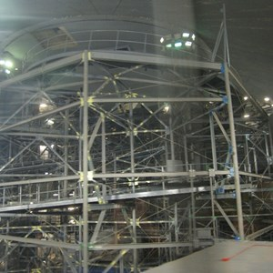 2 of 7: Space Mountain - Space Mountain track photos with work lights on (2010)
