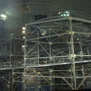 3 of 7: Space Mountain - Space Mountain track photos with work lights on (2010)