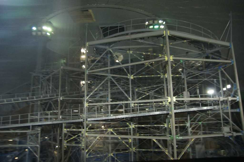 Space Mountain track photos with work lights on (2010 ...