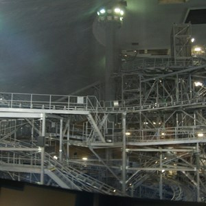 4 of 7: Space Mountain - Space Mountain track photos with work lights on (2010)