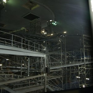 5 of 7: Space Mountain - Space Mountain track photos with work lights on (2010)