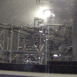 1 of 4: Space Mountain - Space Mountain track photos with work lights on