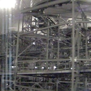 2 of 4: Space Mountain - Space Mountain track photos with work lights on