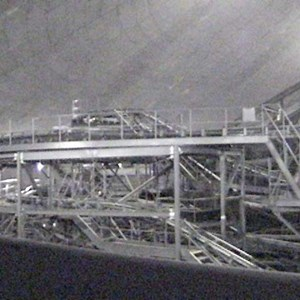 3 of 4: Space Mountain - Space Mountain track photos with work lights on