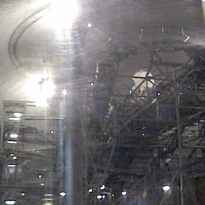 4 of 4: Space Mountain - Space Mountain track photos with work lights on