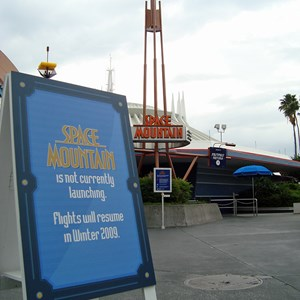 2 of 5: Space Mountain - Space Mountain closed for refurbishment