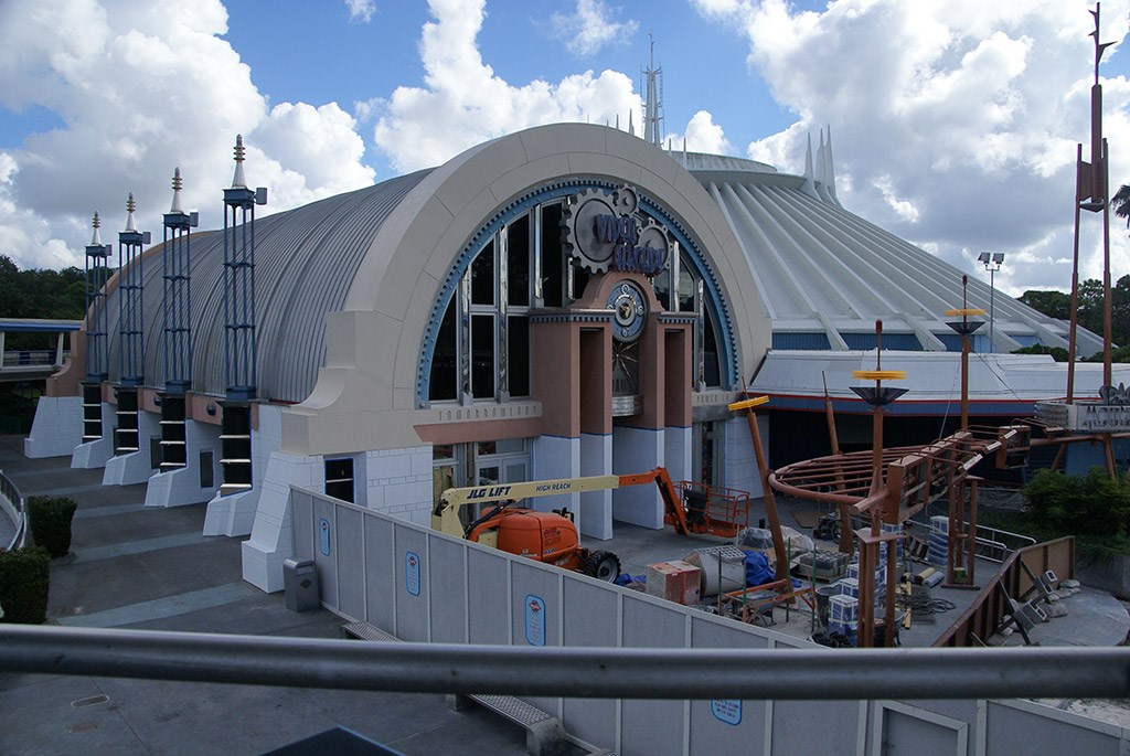 Space Mountain refurbishment exterior