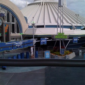 3 of 4: Space Mountain - Space Mountain refurbishment walls down