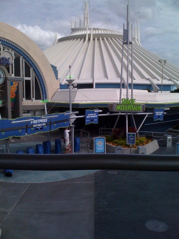 Space Mountain refurbishment walls down
