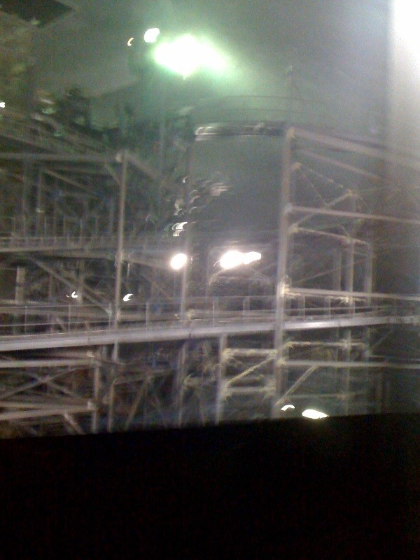 Space Mountain refurbishment - TTA walls down
