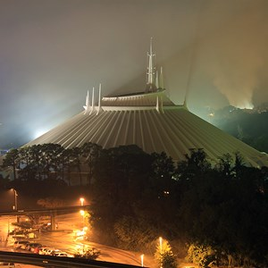 1 of 1: Space Mountain - Space Mountain in the fog