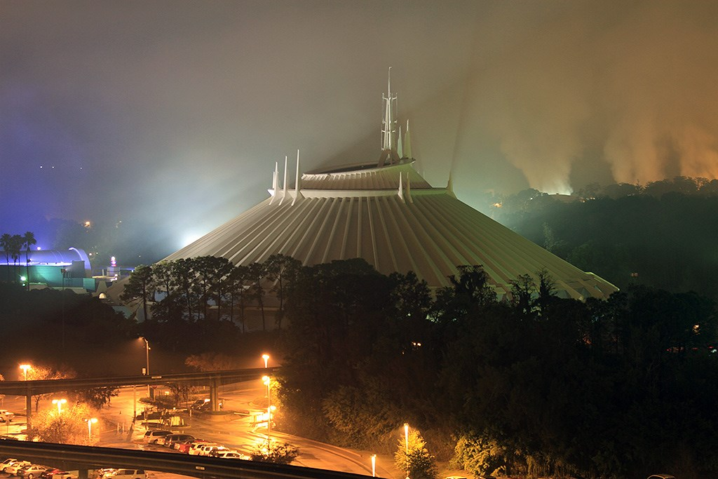 Space Mountain in the fog