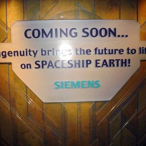 2 of 4: Spaceship Earth - New Siemens signage