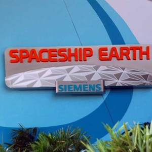 3 of 4: Spaceship Earth - New Siemens signage