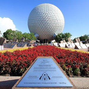 1 of 4: Spaceship Earth - Spaceship Earth exterior 2010