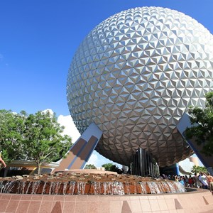 1 of 5: Spaceship Earth - The Leave a Legacy design on the geosphere supports as seen back in 2010