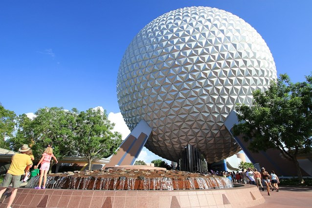 Spaceship Earth - The Leave a Legacy design on the geosphere supports as seen back in 2010