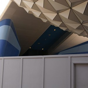 1 of 2: Spaceship Earth - New sign area revealed