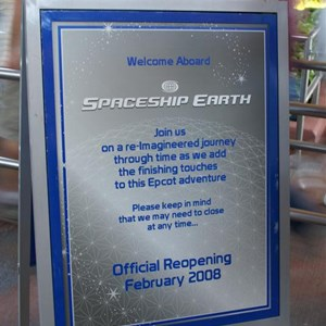 4 of 73: Spaceship Earth - Soft opening ride through